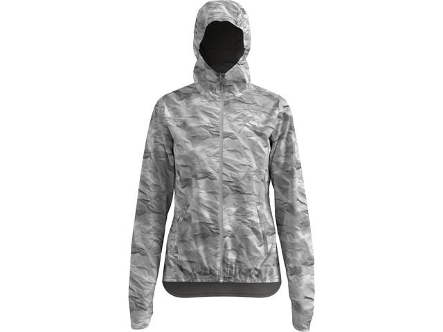 Odlo Fli Waterproof 2.5L Jacket Women silver cloud/paper print